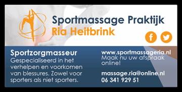 Maak kennis met Sportmassage Ria!