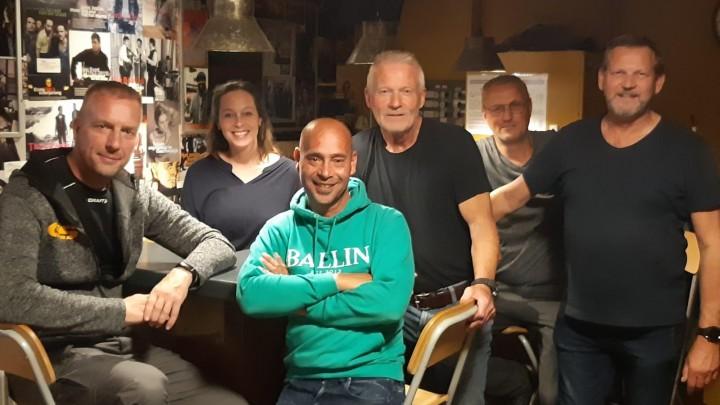 De band 2nd Try, met derde van rechts zanger/gitarist Martin Koning.