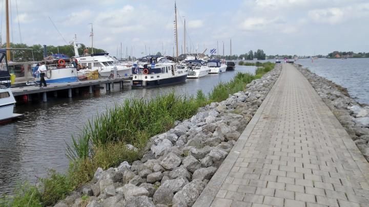 De strekdam in de Pikmar. (Foto: Klaas Stelma)