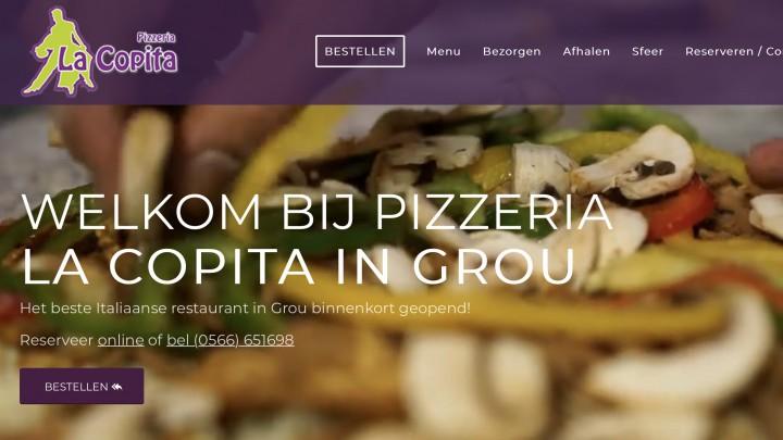 La Copita neemt op de website al een voorsprong op de aanstaande vestiging in Grou.