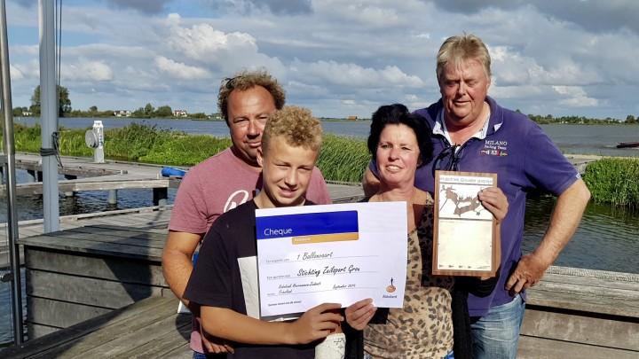 De winnaars van de 2e Grouster jaarzeilprjs.