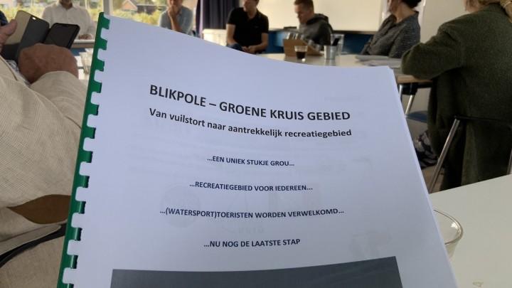 De notitie 'Blikpôle - Groene Kruisgebied. Van vuilstort naar aantrekkelijk recreatiegebied'.