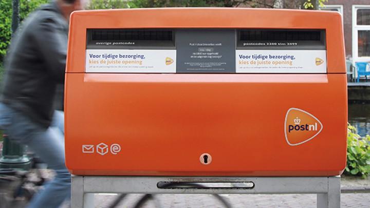 Een brievenbus van PostNL. (Foto: PostNL)