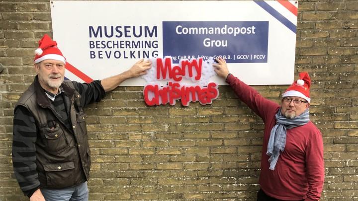 De vrijwilligers van het museum wensen iedereen een gezellig kerstfeest en een goed 2021.
