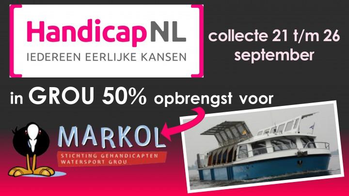 HandicapNL collecteert; 50% voor MS Markol