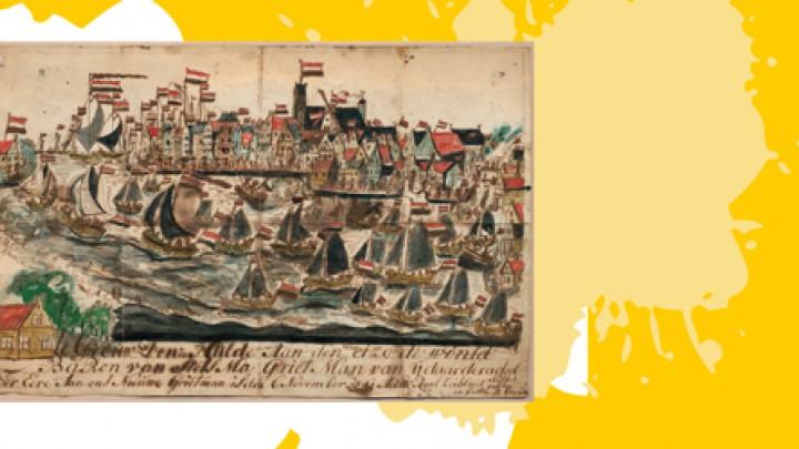 Admiraalzeilen 1841. (Uit: Privécollectie Tjalling Halbertsma)
