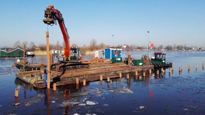 De aanleg door aannemer Nagelhout verloopt voorspoedig.