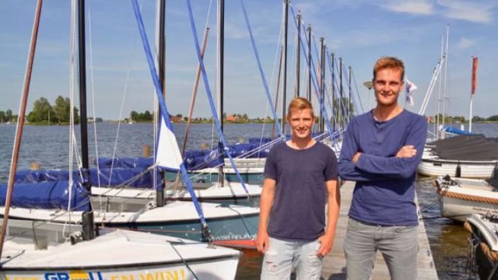 Robin Dorenbosch (rechts) en zijn naaste medewerker Allard Dijkema.