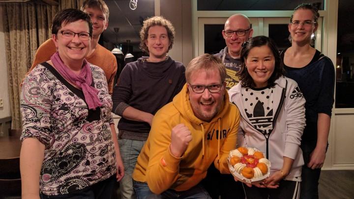 Team A: Saskia, Siebe, Bart-Jan, Harold, Arjen, Patchanee, Sietske (Marloes ontbreekt, zij speelde alleen op de woensdag).