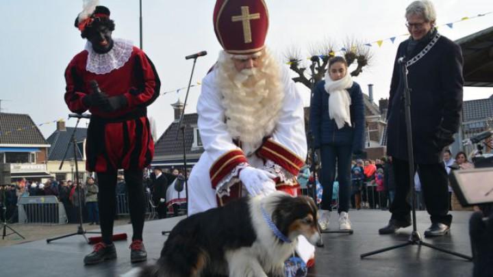 Sint Piter en Swarte Pyt, hier met hond Cleo van Symon en Geartsje Odinga.
