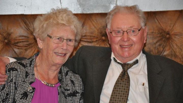 Henk en Fintsje de Groot-Terpstra zijn vandaag 65-jarig getrouwd.