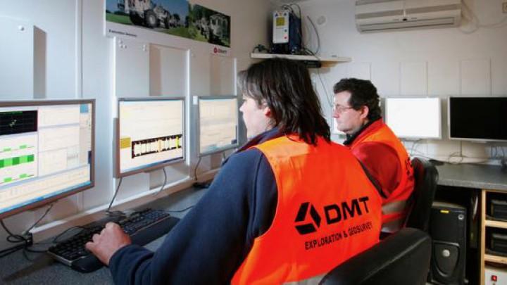 Het Duitse bedrijf DMT Group voert het seismisch onderzoek uit.