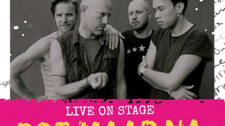 Band Doe Maar Na op podium Treemter