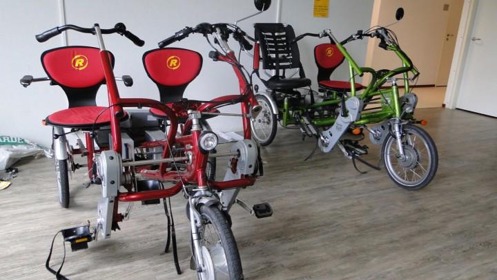 Ook Grousters die niet in Friesma State wonen, kunnen gebruik maken van deze elektrische duofietsen.