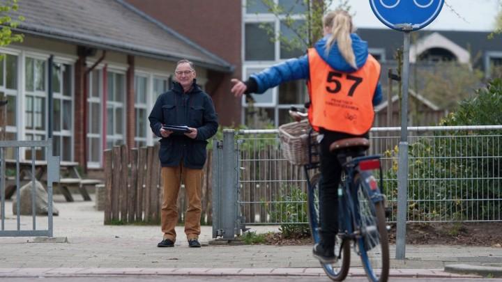 Een Praktisch Verkeersexamen van Veilig Verkeer Nederland. (Foto: VVN)
