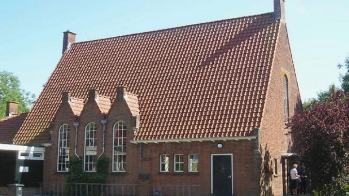 De voormalige Gereformeerde kerk aan de Kievitstraat in Grou.
