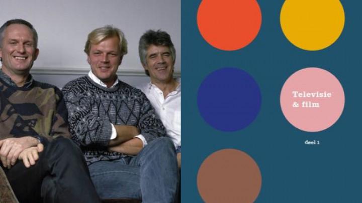 Een jonge Arjen van der Grijn (midden) met Kees van Kooten en Wim de Bie. (Illustratie uit het boek)