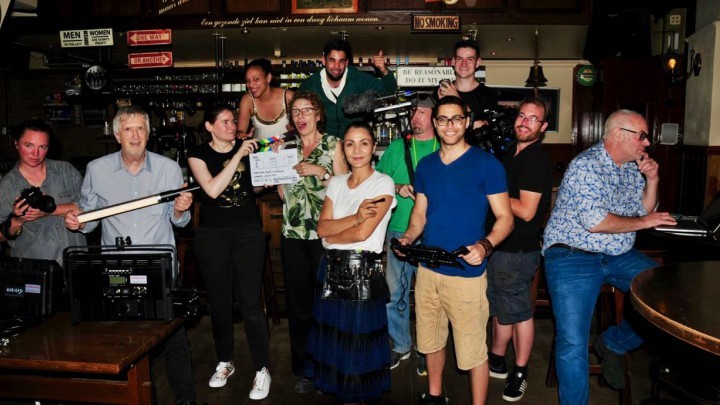 Sonja en haar groep tijdens de vorige editie van het 48 Hour Film Project.