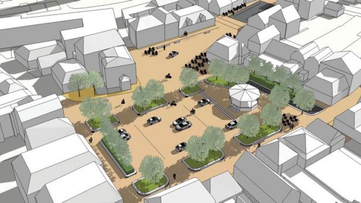 Het ontwerp voor het nieuwe plein werd positief ontvangen.