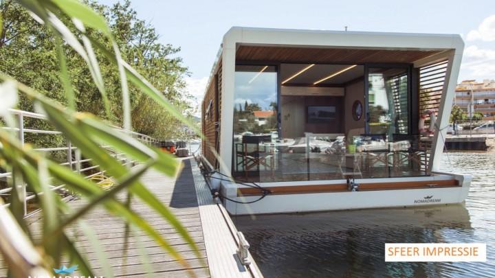De huurders van de houseboats hebben straks een fraai uitzicht over de Rjochte Grou.