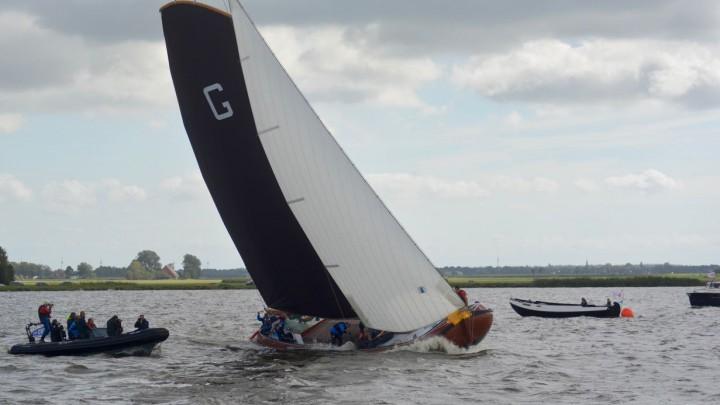 Grou werd vandaag tweede bij de inhaalwedstrijd op de Hegemer Mar.