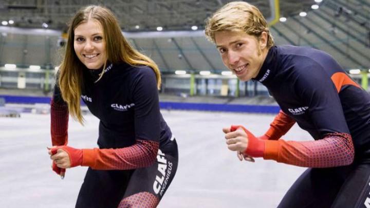 Jorrit en Heather Bergsma openen Skûtsjewike