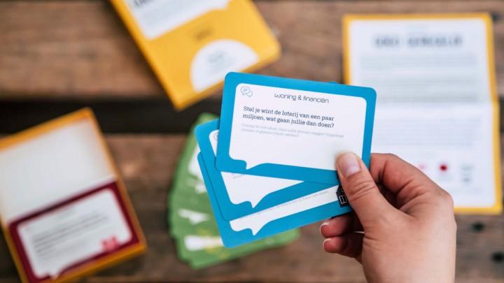 Het door notariskantoor Mirjam Bos ontwikkelde kaartspel 'Goed geregeld'.