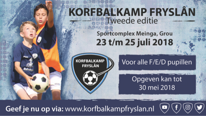 Tweede editie Korfbalkamp Fryslân