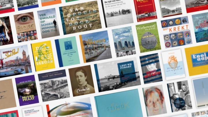 Een deel van de door Louise uitgegeven boeken.