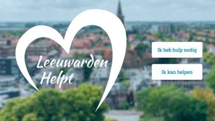 De startpagina van leeuwardenhelpt.nl.