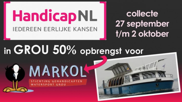HandicapNL collecteert: 50% voor MS Markol