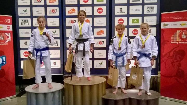 Judoka Milou Hendriks wint goud in Lommel (België).