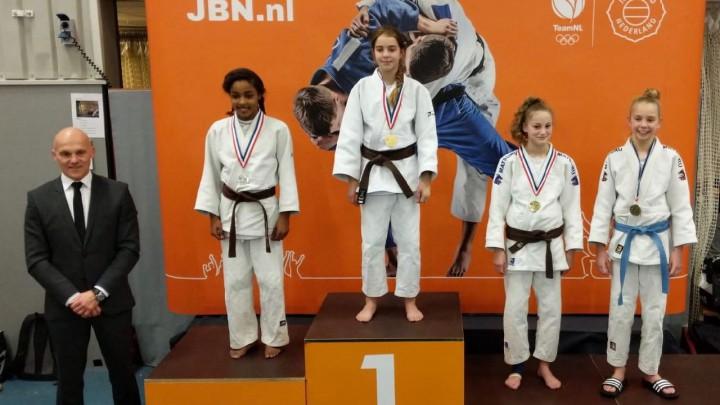 Judoka Milou Hendriks werd zaterdag voor de tweede keer kampioen van Nederland.