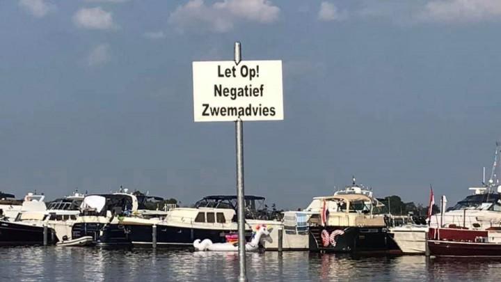 Negatief zwemadvies strandje Blikpôle