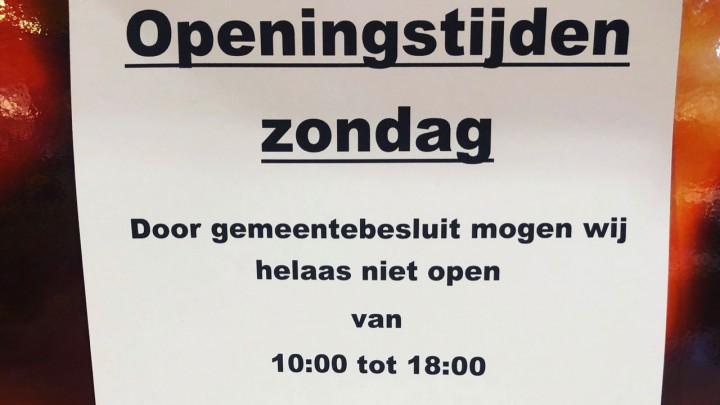 Jumbo op zondag nog niet om 10 uur open
