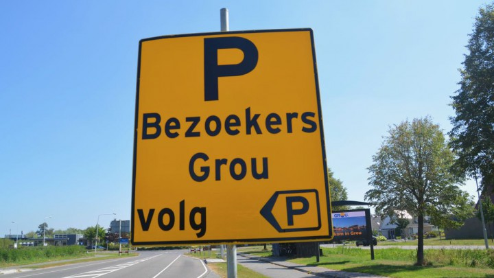 Het bord aan het begin van de Stationsweg.