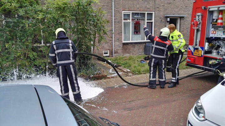 De brandweer hoefde slechts nacontrole te verrichten en de woning te ventileren.