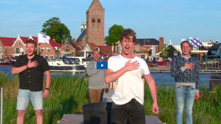 Screenshot uit een tv-reportage over Gabe Skroar door Omrop Fryslân.