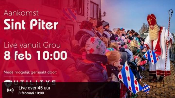 Aankomst Sint Piter weer live op internet