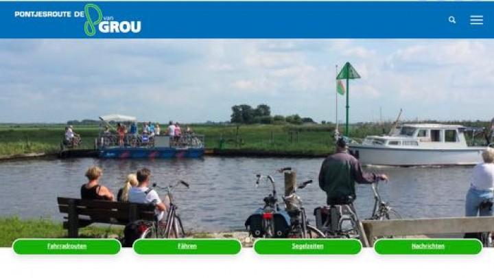 Nieuwe site voor pontjesroute 'de 8 van Grou'