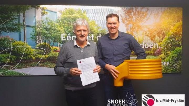 Snoek Puur Groen sponsort k.v. Mid-Fryslân