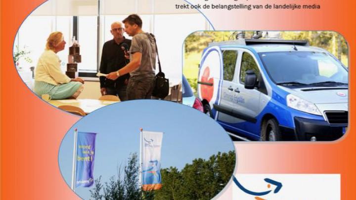 De snuffelstage trok de aandacht van Omrop Fryslân. Ook het Jeugdjournaal maakt er een verslag van.