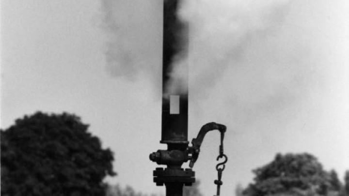 De stoomfluit van de Halbertsmafabrieken, rond 1960.