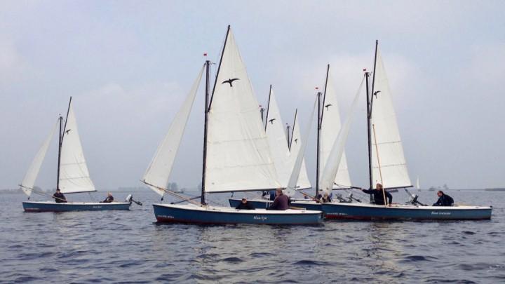 Een onderlinge competitie met Valken van WSB Anja, zoals hier door leden van de Wergeaster Wettersport Feriening.