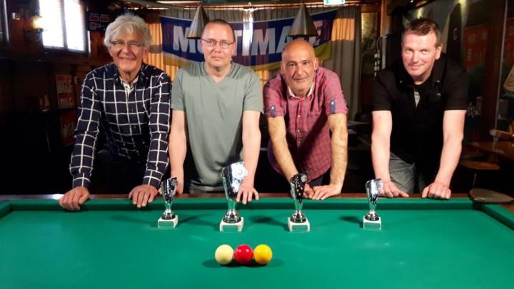 V.l.n.r.: Rinse Brijker, Eeltsje Folkertsma, Mario Perez en Meindert Rosier. (Foto: Richard Tinga)