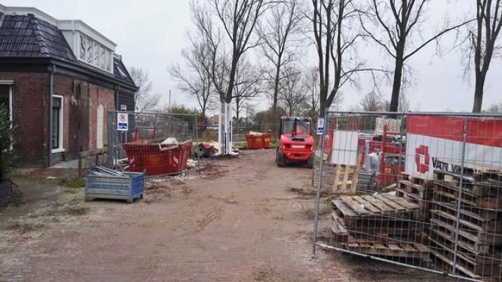 Op deze plek aan de Gedempte Haven begint het nieuwe tracé van de Volmawei.
