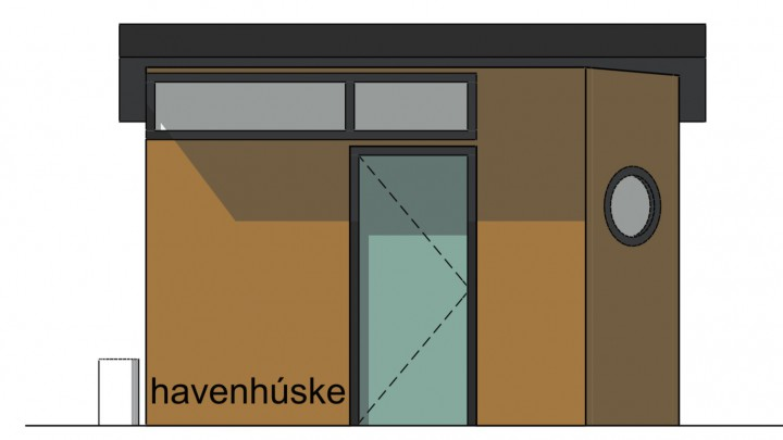 Drijvend toiletgebouwtje in Hellingshaven