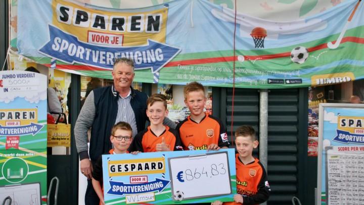 Voetbalvereniging Irnsum had met € 864,83 de hoogste opbrengst.
