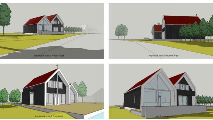Impressies van de bouwplannen (André van Dijk, architect - AvB).