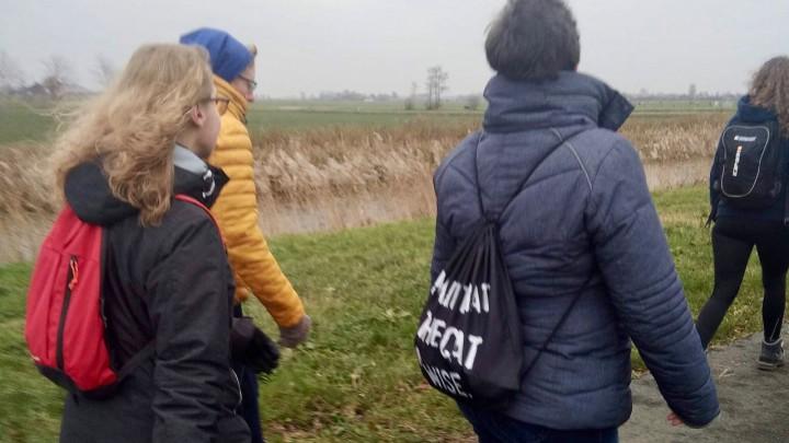 Deelnemers aan de 1e Grouster Winter Wandeltocht.